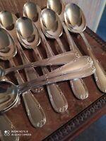 12 Cuillères de Table Style Louis XVI Orfèvre François Frionnet
