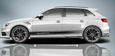 QUATTRO SIDE STRIPES DECAL FOR AUDI A3 S3 RS3 STICKERS ADESIVI