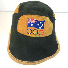 Australian Leather Strapback 2000 Summer Olympics Bush Hat Baseball Cap