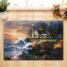 Oil painting lighthouse Door Mat Bathroom Rug Bedroom Carpet Bath Mats Non-Slip