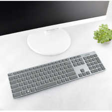 Clear Transparent Silicone Keyboard cover Protectors For DELL KM717