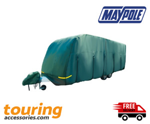 Maypole Breathable Caravan Cover - 19 - 21ft (5.6-6.2m) Green with Hitch Cover
