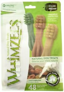 Whimzees X Small Toothbrush Natural Healthy Vegetable Gluten Free Dog Treats