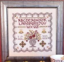Rosewood Manor WINDHAM HOUSE SAMPLER Cross Stitch/SS Chart/Leaflet ~ flower urn