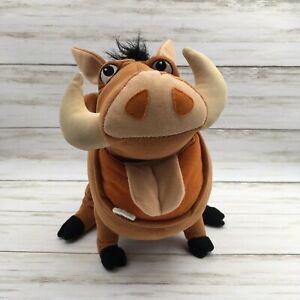 2002 Hasbro Disney The Lion King Talking FEED ME PUMBA Warthog Plush Farting