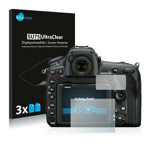 6x Displayschutzfolie für Nikon D850 Klar Transparent Schutzfolie Displayfolie