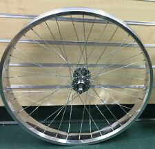"Micargi Seattle 26""x 4.0 Fat Rear Beach Cruiser Bike Wheel 7 speed Disc Polish"