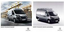 Peugeot Boxer 07 / 2014 catalogue brochure + Accessoires