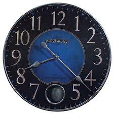 "625-568 Howard Miller 26 1/4"" Diameter Blue Wall Clock With Pendulum (625568)"