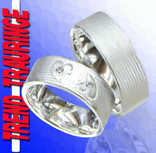 2 Trend Trauringe Verlobungsringe Silber & Gravur Gratis T33-2