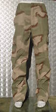 "Military Style Desert Storm Tri Colour Camo Combat Trousers Size 32"" - 36"" NEW"