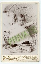 Cabinet Photo - Cedar Falls, Iowa - Close Up Cute Baby ... in Wicker Chair