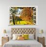 3D Autumn Forest 788 Open Windows WallPaper Murals Wall Print Decal Deco AJ WALL