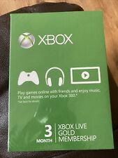 Brand New Microsoft Xbox Live Gold Membership / Subscription - 3 Months