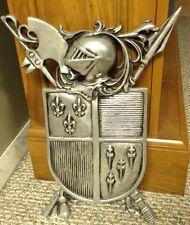 BIG Coat Of Arms Crest Knight Daggers Ornate Artesian Cast Metal Armor Wall Art
