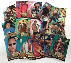 WWF FLEER WRESTLEMANIA The People's Champion Set of 15 - The Rock   / 2001 Fleer