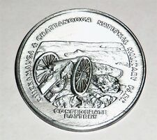 Vintage Souvenir Chattanooga National Military Park Confederate Battery Coin