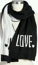 Old Navy Black/White Women's LOVE Messege Scarf, Great for Showing Your Love