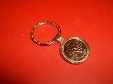 CANADA MAPLE LEAF PENNY SILVER CASED PENDANT KEY RING - 1997 to 2011 - YOU PICK
