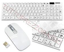 Tastiera mouse wireless 2,4 ghz combo qwerty wifi per pc copri tasti in silicone