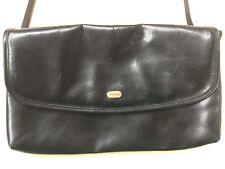 Retro Women's Oroton Black Leather Hand Bag Shoulder Work