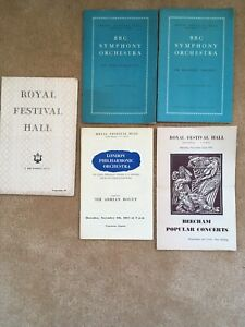 Vintage Concert Programmes (5) Royal Festival Hall Early 50's