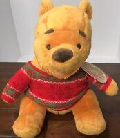 NEW 2014 Disney Winnie The Pooh Hallmark Christmas Plush Cozy Red Sweater