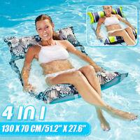 Wasserliege Wasserhängematte PVC Luftmatratze Pool Lounge Schwimmliege 130X70CM