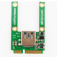 New 1 Unit Mini PCI-E PCI-Express Card USB 3.0 Adapter Adapter Male Cards T3X8