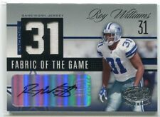 2006 Leaf Certified Fabric of Game Number Roy Williams Dual Jersey Auto 26/31