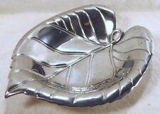 "Fitz And Floyd Botanical Garden Collection Leaf Dish 6 1/2"" x 5"" Aluminum"