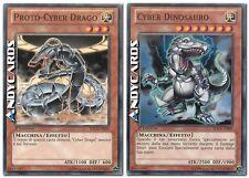 Proto-Cyber Drago + Cyber Dinosauro ☻ Comune ☻  SDCR IT005 IT009 ☻ YUGIOH