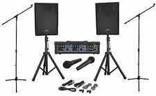 Peavey Audio Performer Pack Complete PA System+(2) Speaker Stands+(2) Mic Stands