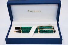 Waterman Pen Set, Marbeled Green