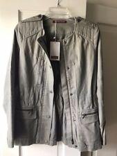 NWT size 36 Comptoir Des Cotonniers Jacket Kaki Fonce Gorgeous