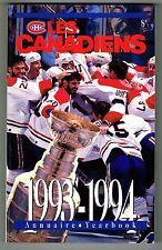 1993/94 Montreal Canadiens NHL Hockey Media Guide YEARBOOK