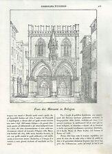 1837 Loch der Händler in Bologna Holzschnitt Cosmorama bildhaft