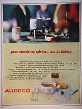 PUBLICITÉ DE PRESSE 1966 AUBECQ SERVICE A FONDUE BOURGIGNONNE - ADVERTISING