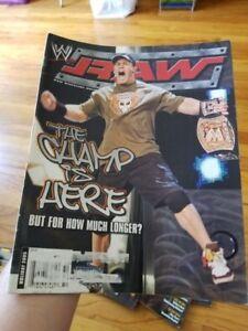 WWE RAW MAGAZINE Holiday 2005 JOHN CENA DRAFT Wrestling
