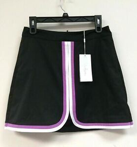 $60 Lady Hagen Women's Twlight Colorblock Golf Skorts, Black, Size 4 - 0L_40