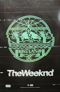 The Weeknd 2013 Kissland Huge 2 Sided Promotional Poster Very Good New Old Stock