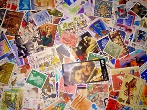 GB UK Great Britain Off Paper Randomly Picked 200 pcs Stamps Collection Lot