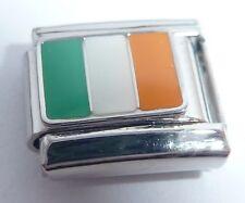 IRISH FLAG Italian Charm - Eire Ireland 9mm fits Classic Starter Bracelets N58