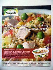 PUBLICITE-ADVERTISING :  BONDUELLE Taboulé au poulet  2016