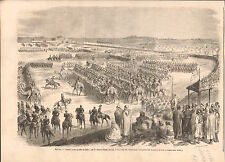 Camels Parade Cairo Isma'il Pasha Ismail the Magnificent GRAVURE OLD PRINT 1867