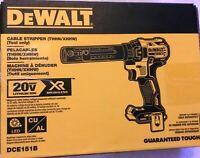 New Dewalt DCE151B 20V Max XR Cordless Brushless Cable Stripper (Bare Tool) NIB