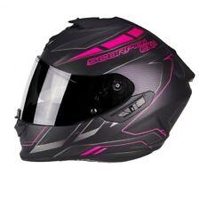 Scorpion casco integral Exo-1400 Air Cup negro Mato Chameleon Rosa S