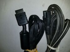 OFFICIAL SONY PLAYSTATION 2 PS2 AV AUDIO VIDEO & SQUARE OVAL AC POWER CABLE F48
