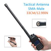 Tactical Antenna SMA-Male Dual Band VHF UHF Foldable For Yaesu TYT Two Way Radio