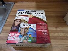 The Print Shop 21 Pro Publisher Deluxe By Broderbund NIB Windows 98SE/ME/2000/XP